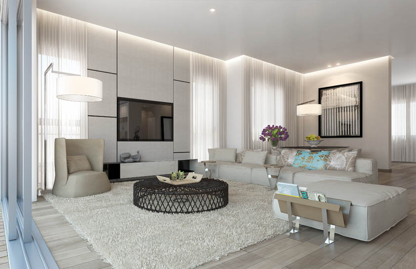 amusing plain white living room | 31 Elegant White Living Room Ideas Which Are Pure ...