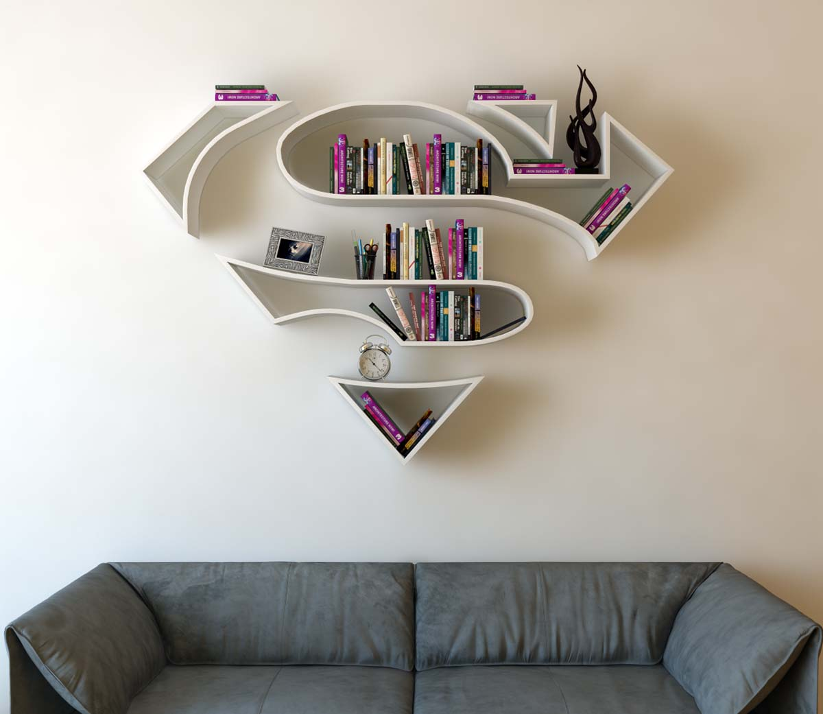 superman-bookshelf