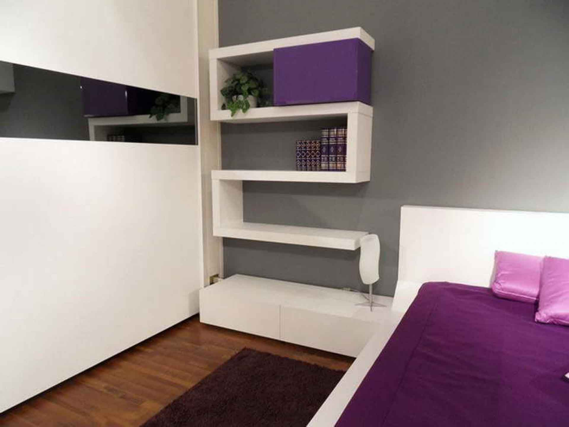 Bedroom colors grey purple - White Grey Purple Bedroom