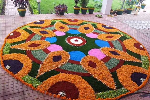 Flower Rangoli Designs for Diwali 3