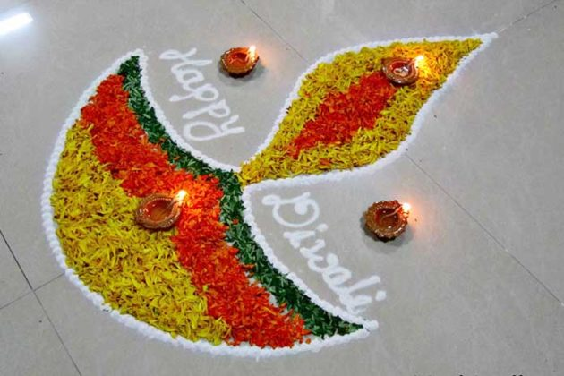 Flower Rangoli Designs for Diwali 4