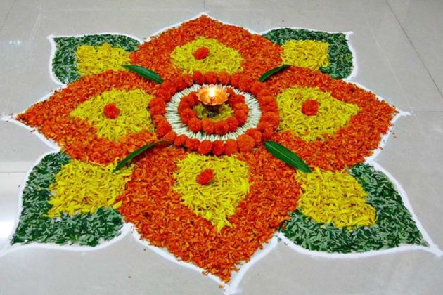 Flower Rangoli Designs for Diwali 5