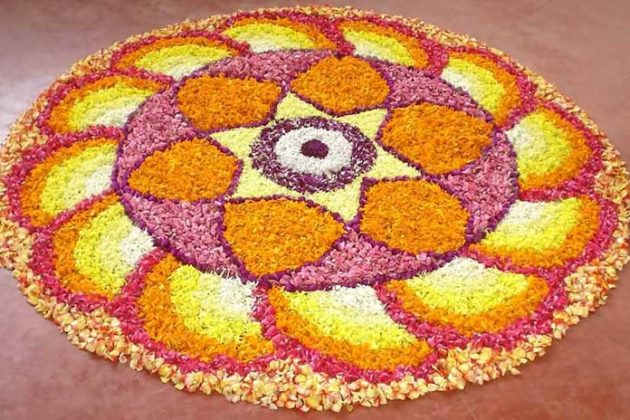 Flower Rangoli Designs for Diwali 8