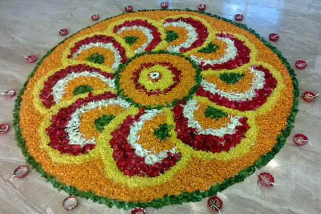 Flower Rangoli Designs for Diwali 10