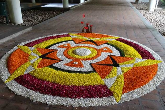 Flower Rangoli Designs for Diwali 11