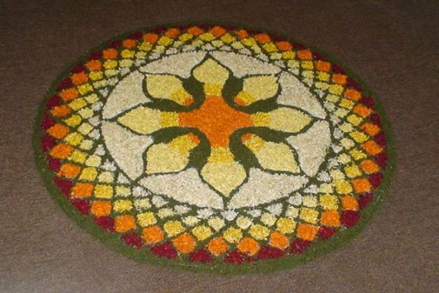 Flower Rangoli Designs for Diwali a12
