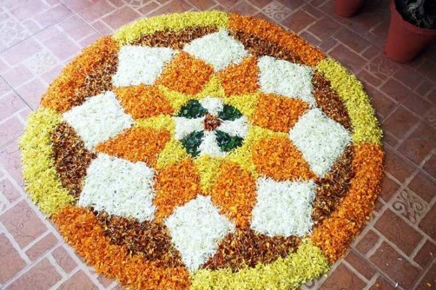 Flower Rangoli Designs for Diwali 13