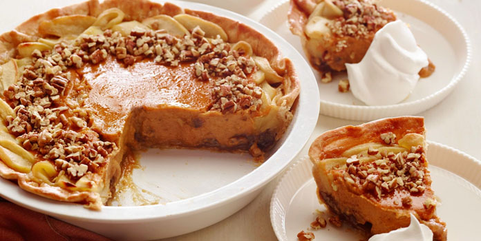 apple-pumpkin-pecan-pie thanks giving foods