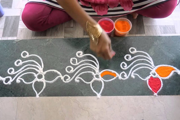 New Door Border Rangoli Designs Door Border Rangoli Designs Video on
