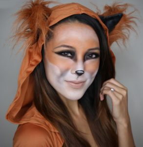 cute-fox-face-paint-for-halloween