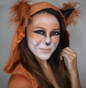 cute-fox-face-paint-for-halloween