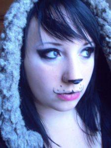 cute-panda-makeup-for-halloween