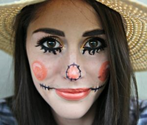 cute-scarecrow-halloween-makeup