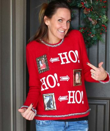 diy ugly red christmas sweater for girls