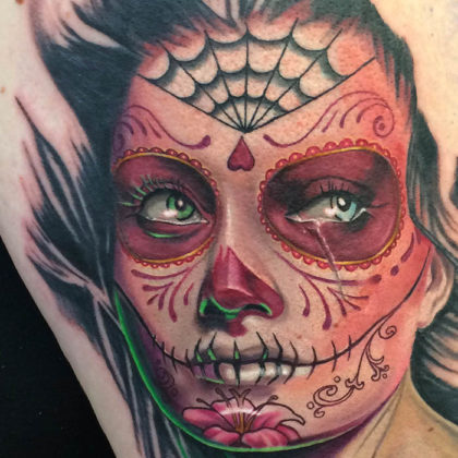 Day of the Dead Tattoos 24