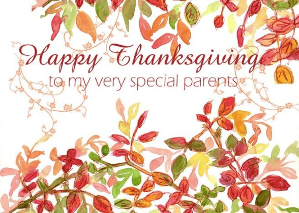 Thanksgiving Cards for Parents 9