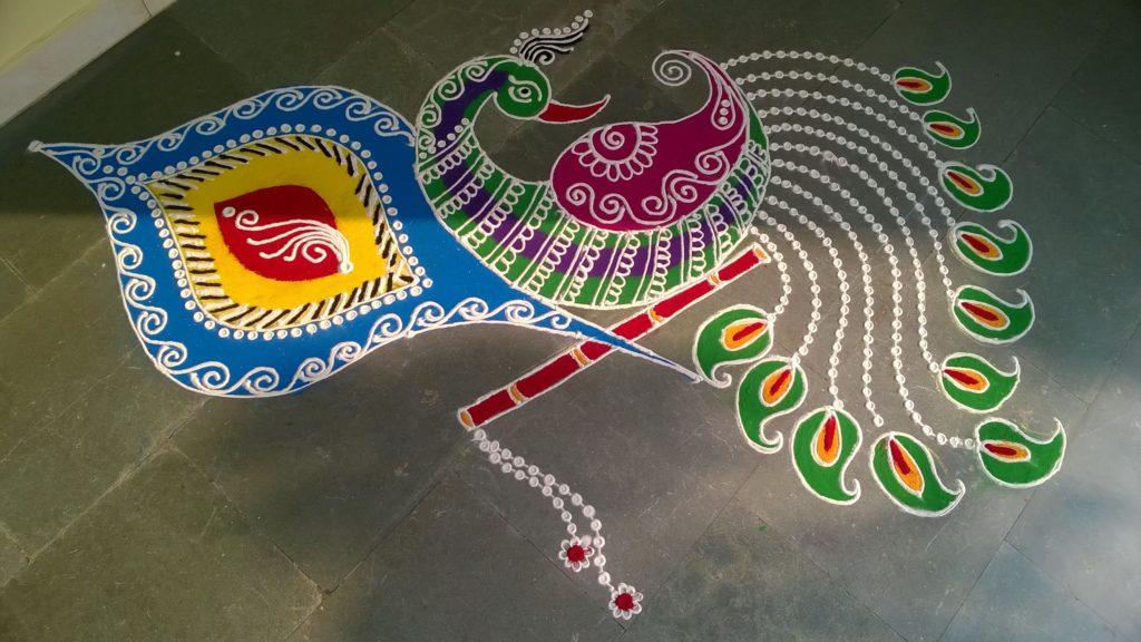 Peacock Rangoli Designs for Diwali 20 1024x576