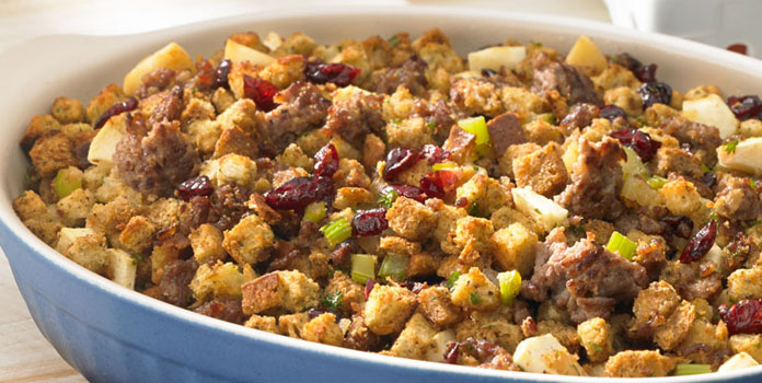 sausage-apple-and-cranberry-stuffing thanks giving
