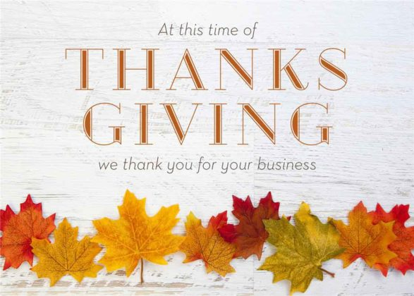 Thanksgiving Cards for Business 1