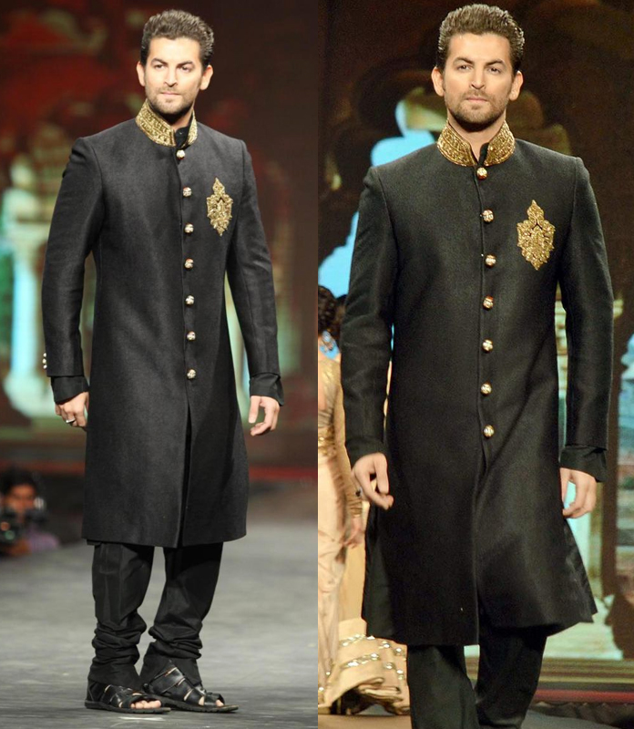 total-black-sherwani-look-new