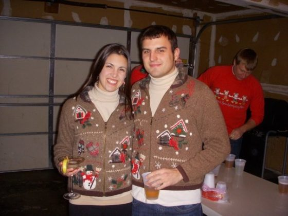 couple-gray-ugly-christmas-sweater