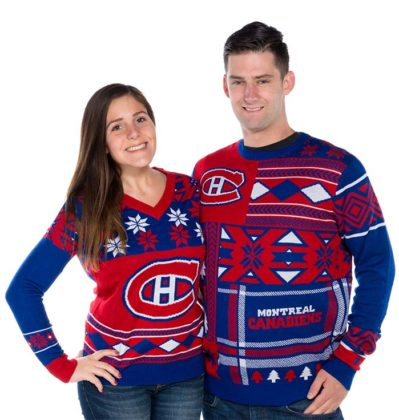 couple-ugly-christmas-sweater-blue-and-red-color