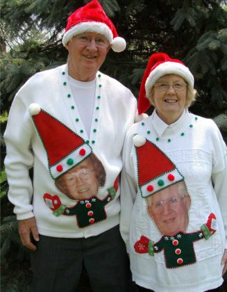 couple-ugly-christmas-sweater-for-seniors