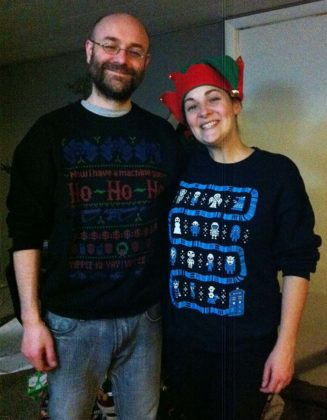 couple-ugly-christmas-sweater-pure-black