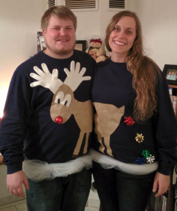couple-ugly-christmas-sweater-sisters-2