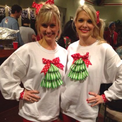 couple-ugly-christmas-sweater-sisters