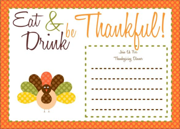 Thanksgiving Invitation Cards 7