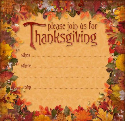 Thanksgiving Invitation Cards 6