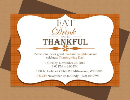Thanksgiving Invitation Cards 5