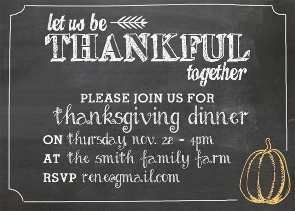 Thanksgiving Invitation Cards 2