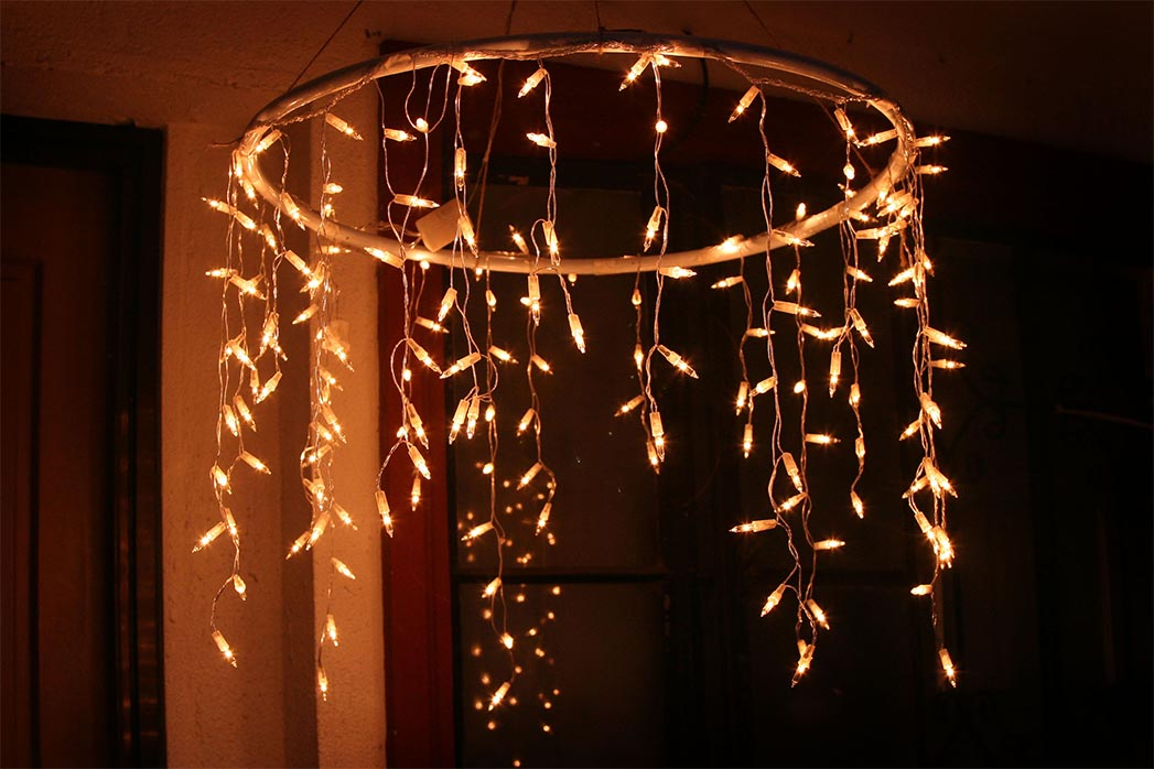 icicle christmas lights for chandelier
