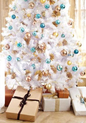 white christmas tree decoration ideas 06