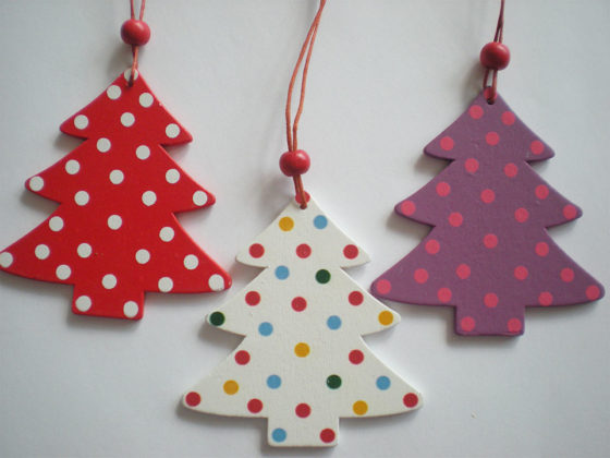wooden christmas tree decorations 11