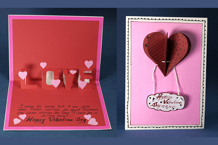 DIY Valentine Love Pop Up Card
