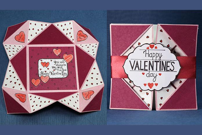 Napkin Fold Valentine Card
