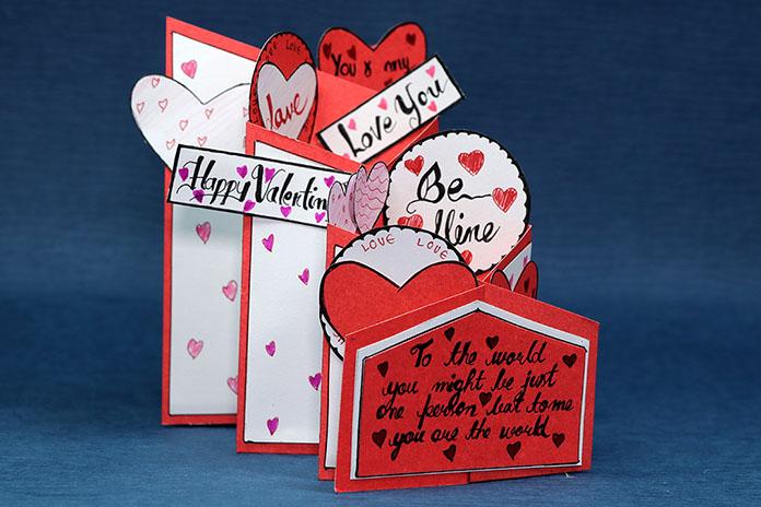 Valentine Cascading Card