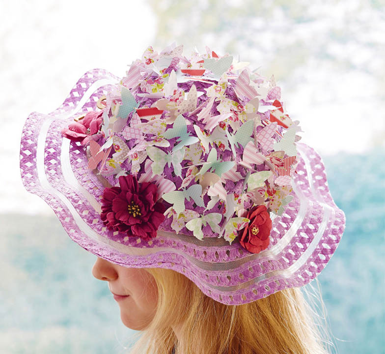Butterfly Easter Bonnet Hat