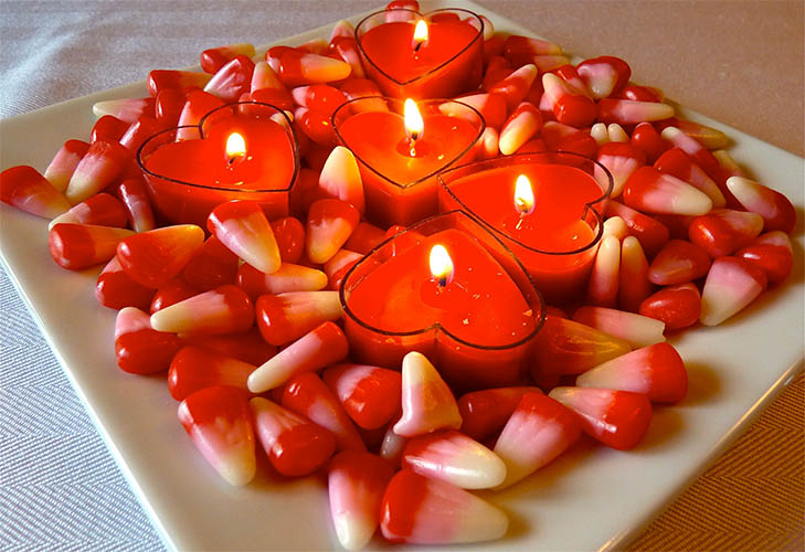 Candle Light Valentine Decoration
