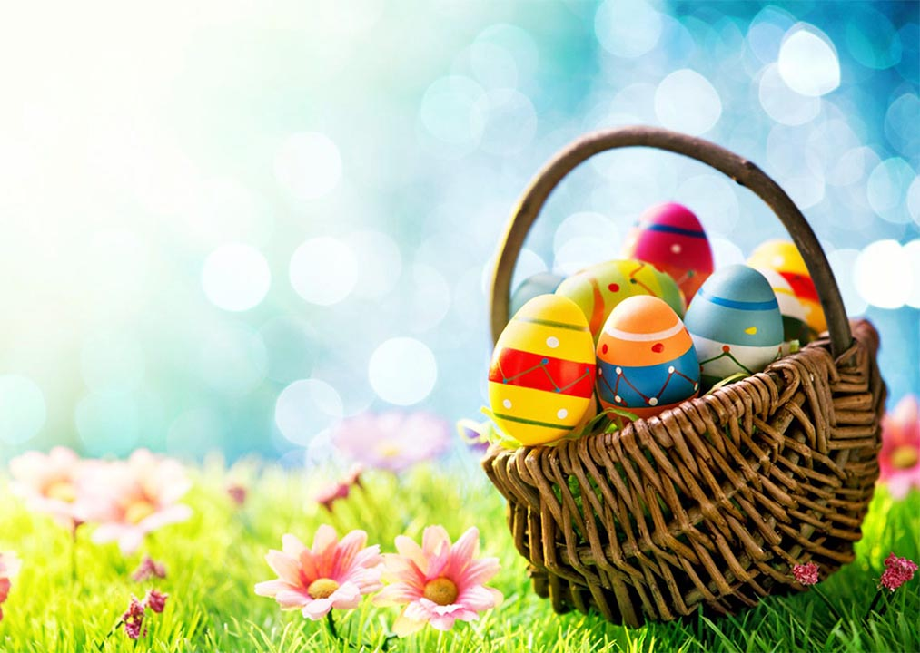 Colorful Easer Egg basket