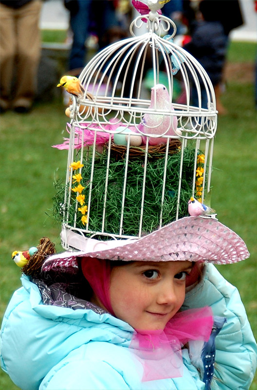 Crazy Birdcage Easter Hat