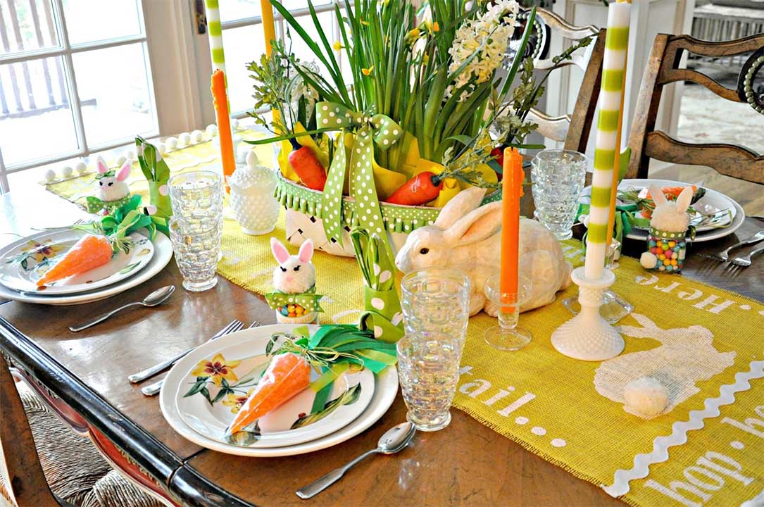 Easter Dining Table Setting