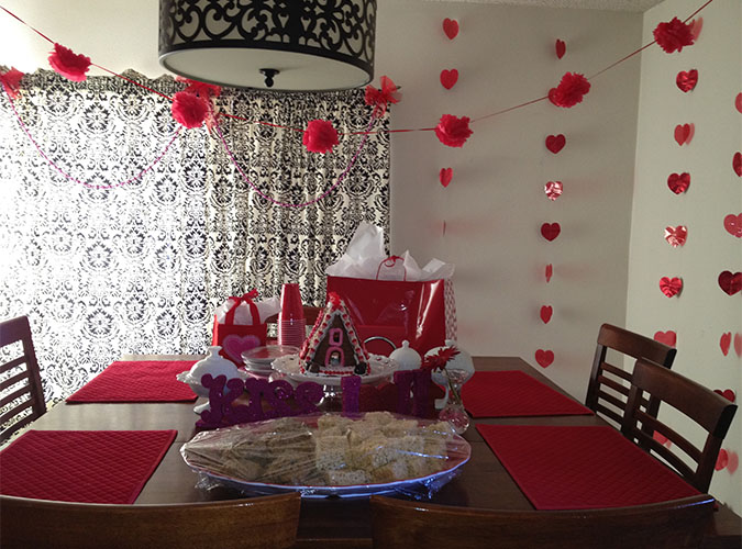 Indoor Valentine Decoration