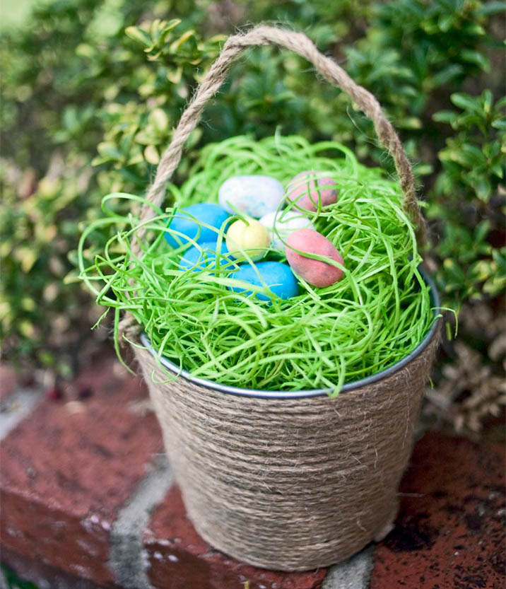 Jute Easter Basket