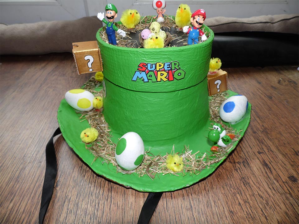 Super Mario Easter Hat