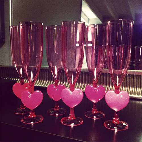 Valentine Theme Party Glasses