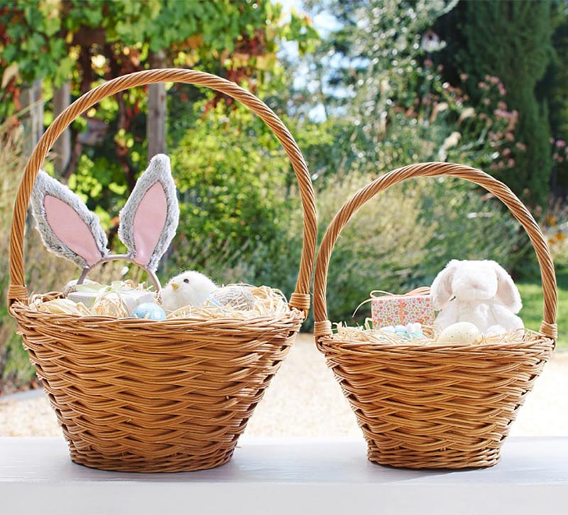 Wicker Easter Basket